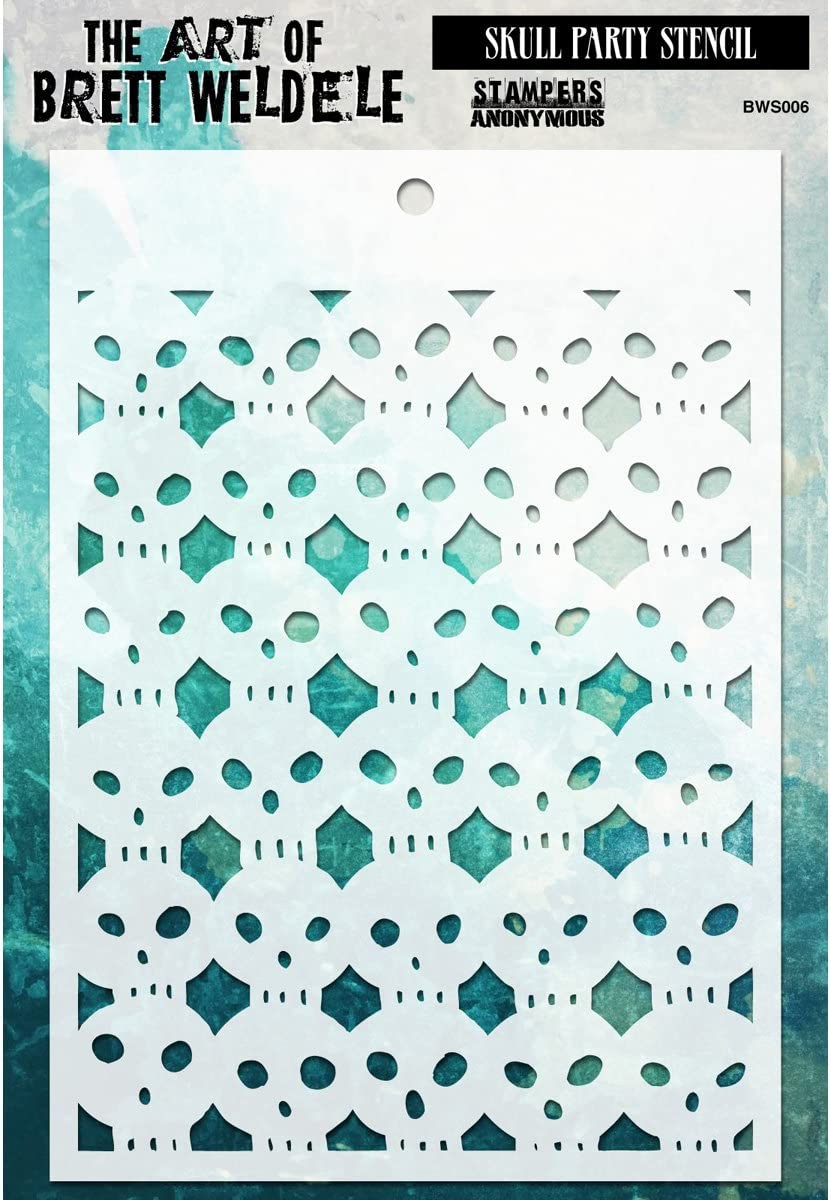 Stampers Anonymous Scribbles Brett Weldele Stencil Collection 6.5 by 4.5