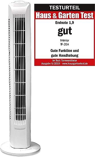 Ventilador de columna Interior TF35, ventilador de torre de 78 cm ...