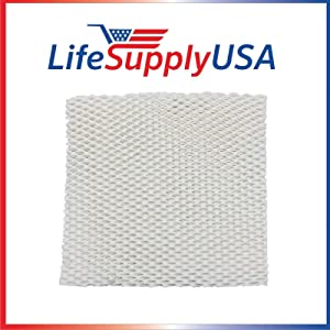 LifeSupplyUSA 6 Pack Replacement Humidifier Pad Wick Filter Compatible with Honeywell HAC-801, HCM-88C, HCM-3060, Duracraft DH-800 801 812 840 799 7800 1005 DU3-C, Kenmore 1478, 14108 Humidifiers
