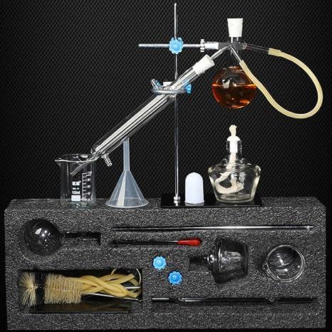 TTSUAI Aceite Esencial Aparato De Destilación Kits De Cristalería De Laboratorio Total Destilador De Agua ...