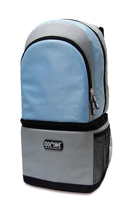 COOL SAFE 1333169 - Mochila con bolso isotérmico integrado para medicamentos (con certificación de seguridad