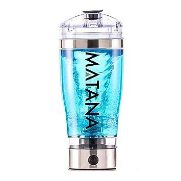 Batidora Eléctrica para Bebidas Energéticas y de Proteína - MATANA Original 2.0 - Negro (Silver): Amazon.es: Deportes y aire libre
