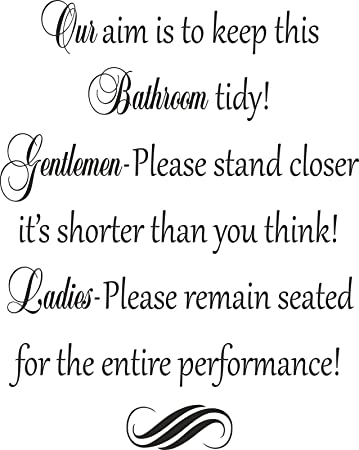Amazon Com Funny Bathroom Rules Toilet Seat Wall Art Vinyl