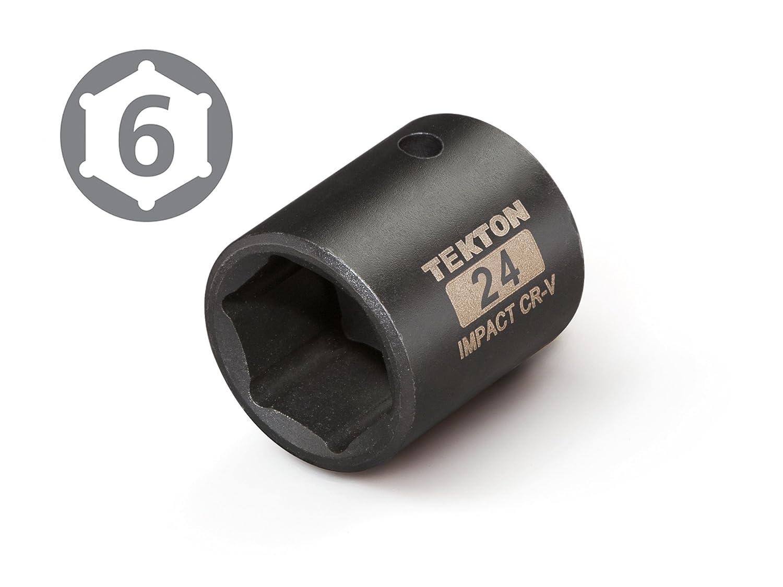 6-Point Cr-V TEKTON 47771 1//2-Inch Drive by 16 mm Shallow Impact Socket