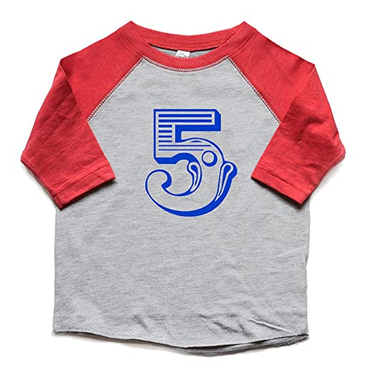 Amazon 5th Birthday Shirt Raglan Toddler Boy Girl Circus Carnival Five Bday Tshirt Kids Fifth Zoo Animal Tee Clothing