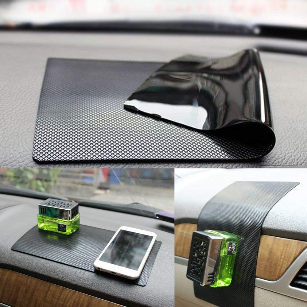 Cell Phone Mount Holder Mat by ZhuTook for GPS New Anti-Slip Non-Slip Mat Car Dashboard Super Sticky Pad Anti-Slip Gel Pad Car Square Pattern, 11X6.7 Sunglasses Keys and More