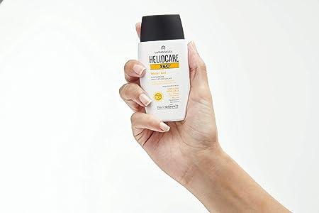Heliocare 360° Water Gel SPF 50+ Crema Solar Facial, Fotoprotector Avanzado, Ultraligera, Hidratante, Pieles Normales y Sensibles, Resistente al Agua, 50 ml