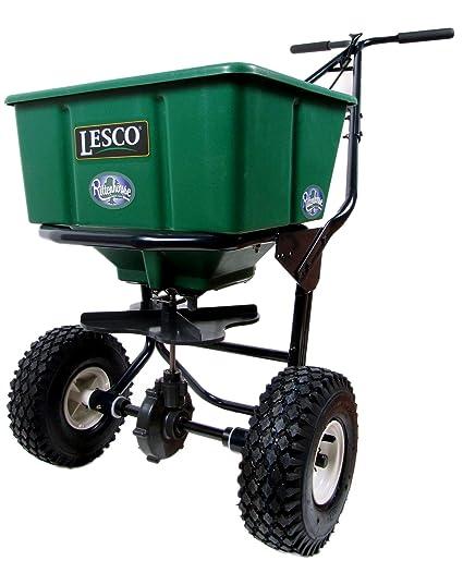 amazon com lesco 50lb push spreader lawn and garden spreaders