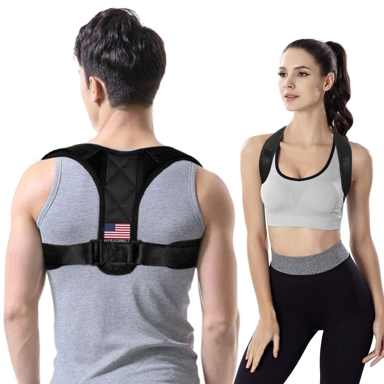 Amazon com posture corrector for women men under clothes adjustable shoulder belt for slouching hunching upper back brace posture clavicle strap pain