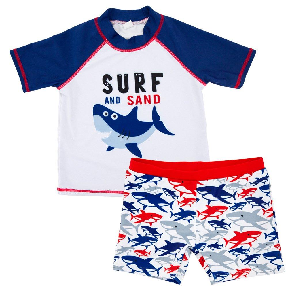 LOliSWan Baby Toddler Boy Swim Set Kid Swimsuit Boy Two Pieces Swimwear Rash Guard