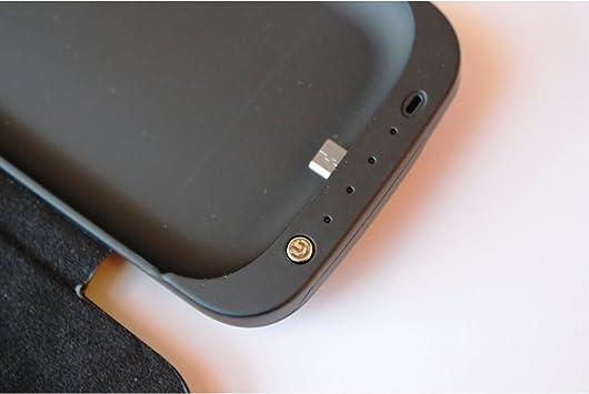 Funda Carcasa con Bateria Samsung Galaxy S3 i9300 con tapa de cuero- Power Pack Capacidad 3200 mAh: Amazon.es: Electrónica