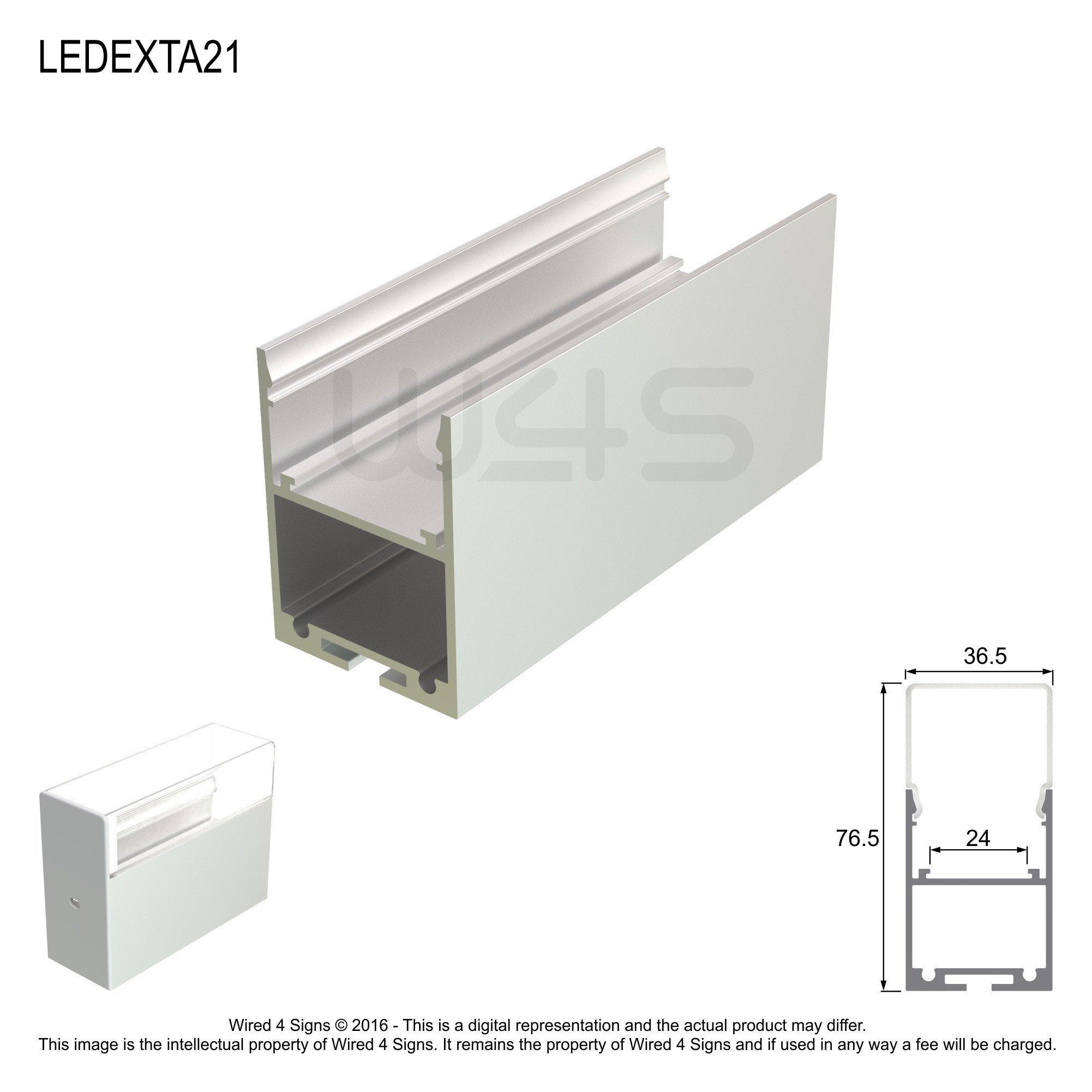 Rectangular LED Linear Pendant- Model A21 [Profile Only]
