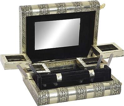 Shaez Caja Joyero Buda con Espejo, Caja para Joyas, Pendientes ...
