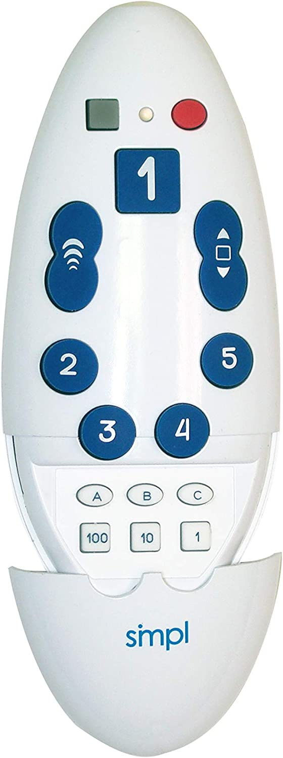 Ease Caregiver Stress Go to Your Favorite Channel with One Press smpl Large Button Universal TV Remote Eliminate The Frustration of TV Remotes