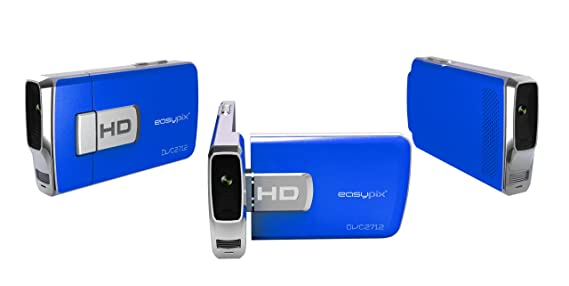 Easypix DVC2712 - Videocámara (5 MP, CMOS, 8x, Tarjeta de memoria ...