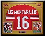 Joe Montana Autographed Red 49ers Jersey