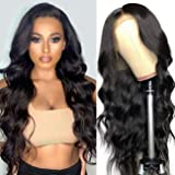 Persephone Wavy Lace Front Wigs for Women Glueless Black Synthetic Wig Natural Color Hair Heat Resistant 22 inch 180…