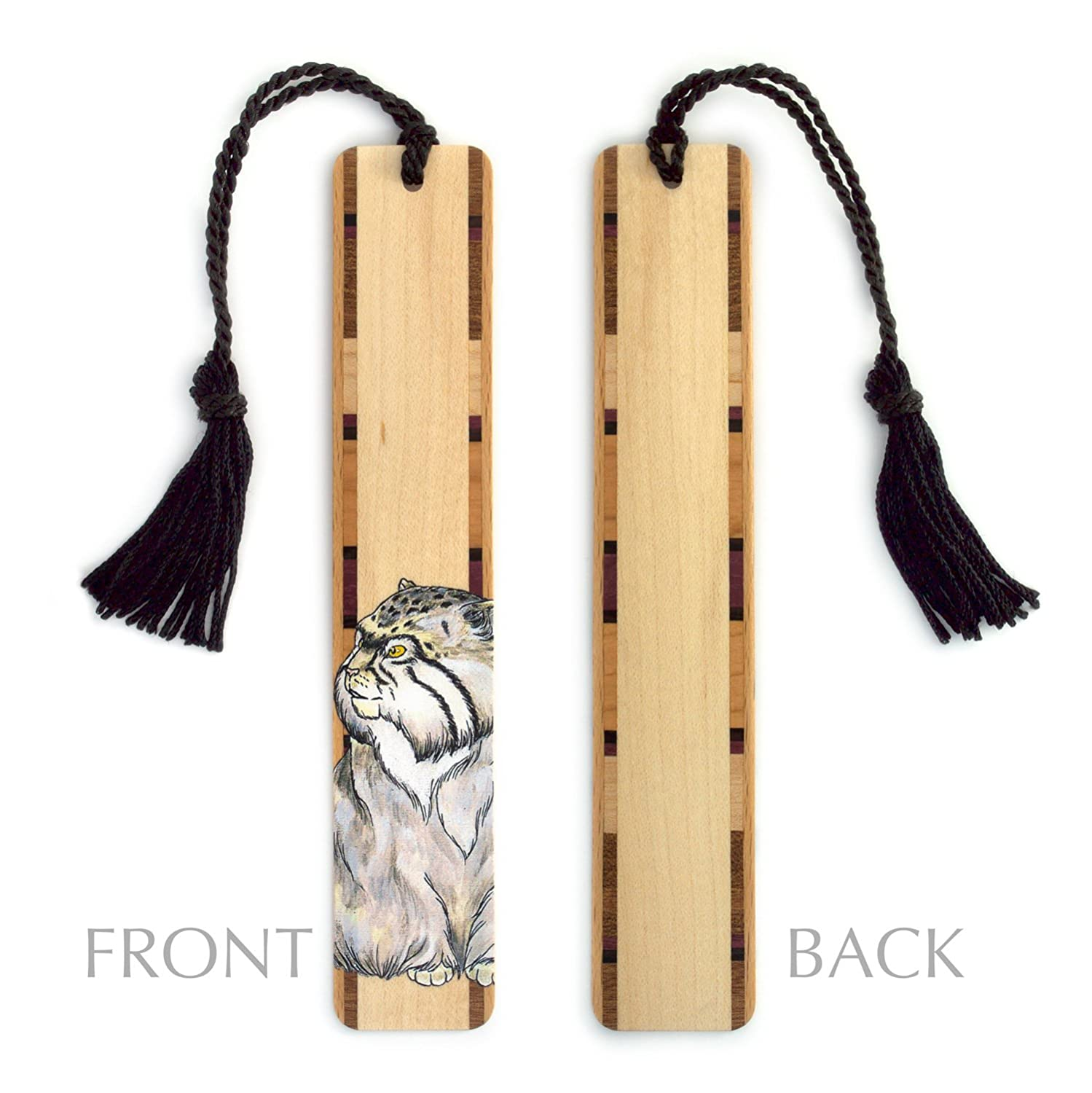 Amazon.com : Wood Bookmark with Cat Drawing by Kathleen Barsness - Includes Black Rope Tassel - American Made : Office Products