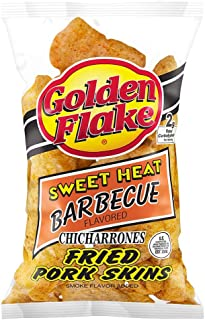 product image for Golden Flake Sweet Heat BBQ Pork Skins 3.25 Ounce (Pack of 4)