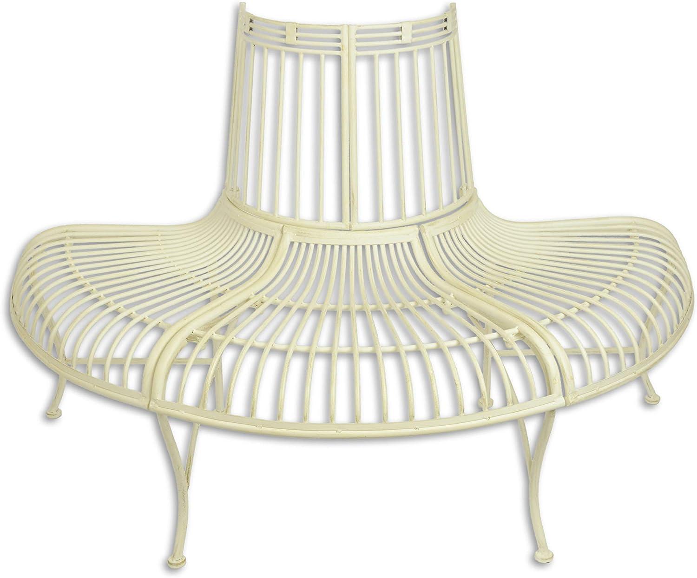 Decoratie - Banco para jardín (Hierro, 133, 8 cm), Color Blanco ...