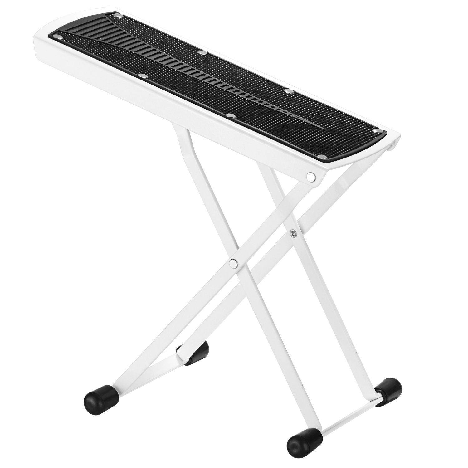 Neewer Extra Sturdy Guitar Foot Rest Made of Solid Iron, Provides Six Easily Adjusted Height Positions, Excellent Stability with Rubber End Caps and Non-slip Rubber Pad