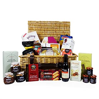 The Traditional Wicker Food Gift Hamper 25 artículos - Ideas ...