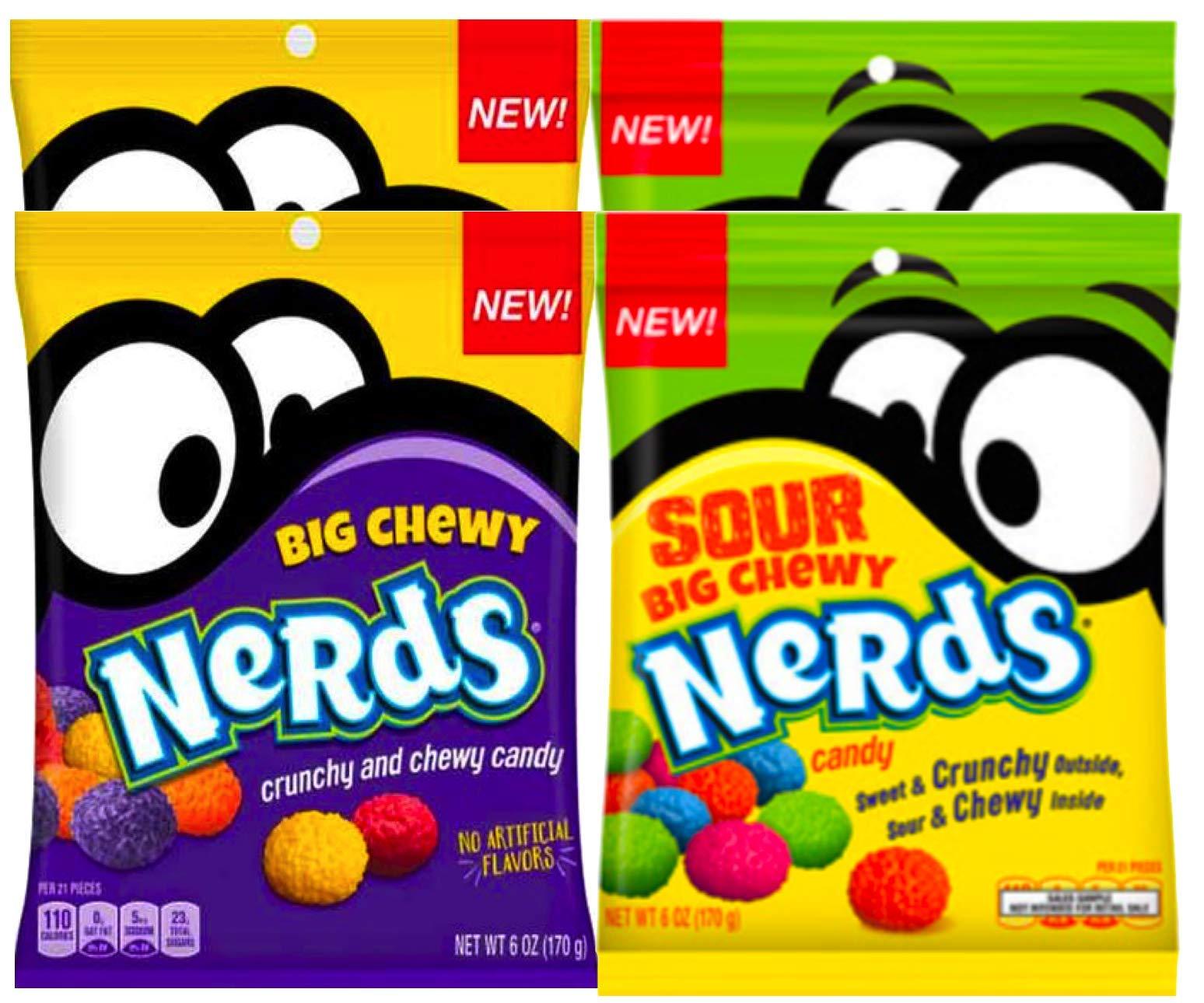 NEW Nerds Big Chewy Nerds Sour & Crunchy No Artificial Flavors Net WT 6oz (4)