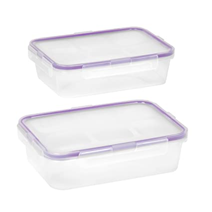 Snapware Airtight 4.5-Cup Rectangular Food Storage Container Set (4-Piece)  sc 1 st  Amazon.com & Amazon.com: Snapware Airtight 4.5-Cup Rectangular Food Storage ...