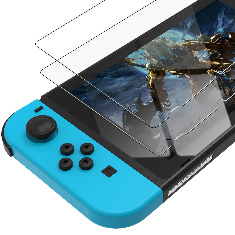 Oribox Glass Screen Protector for Nintendo Switch 2017 (6.2 inch) Tempered Glass Screen Protector,2-Pack Clear, Model Number: Switch Screen Protector