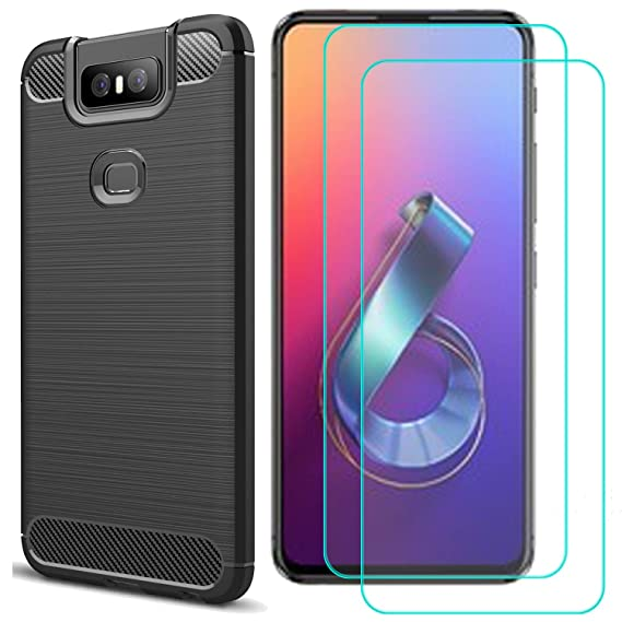 sneakers for cheap 8ca2c f0836 MYLB Compatible for Asus Zenfone 6 ZS630KL case,with Asus Zenfone 6 ZS630KL  Screen Protector.(3 in 1) Fashion Soft TPU Shockproof Case with Asus ...