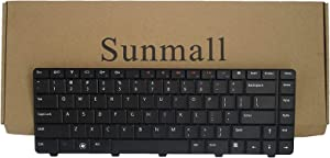 SUNMALL Laptop Replacement Keyboard for Dell Inspiron 14V 14R N4010 N4030 N3010 N5030 M5030 15R Series Black US Layout