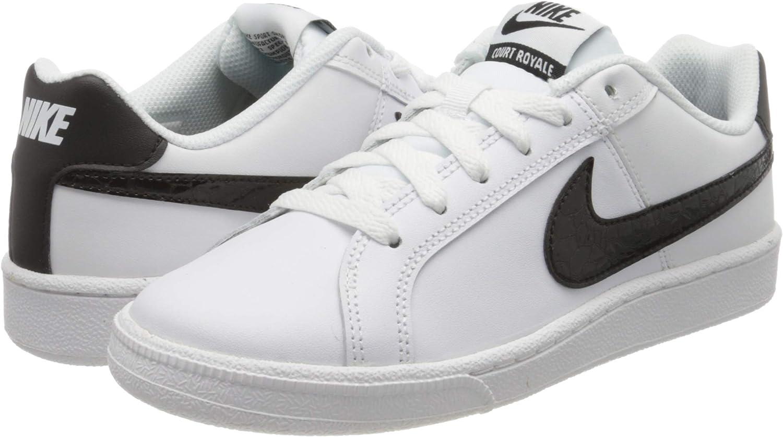 Zapatillas De Mujer Nike Court Royale Blanco Negro Shoes