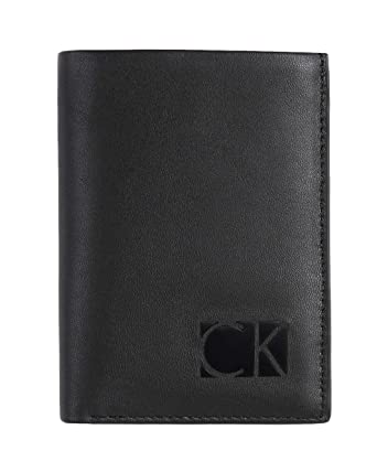 d072eec889 Image Unavailable. Image not available for. Color: Calvin Klein CK Logo  Men's Trifold Leather Wallet