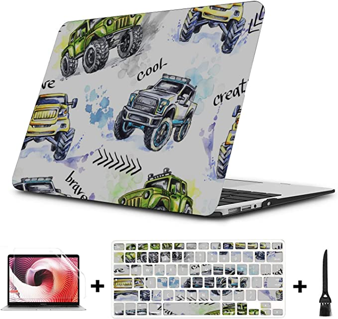 MacBook Air 13 Case Cartoon Retro Fashion Doodle Car MacBook Pro Case 2018 Multi-Color /& Size Choices/10//12//13//15//17 Inch Computer Tablet Briefcase Carrying Bag