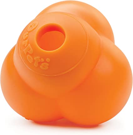 "TREAT DISPENSING 5/"" LARGE ATOMIC BALL DOG TOY"