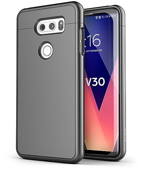 official photos 3af9f 45072 LG V30 Slim Case - Encased [SlimShield Edition] Full Coverage Protective  Grip Cases (Gunmetal Grey)