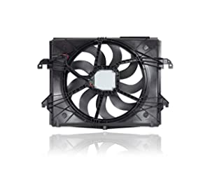 Dual Radiator and Condenser Fan Assembly - Cooling Direct For/Fit 68217820AB 13-19 RAM 1500 3.6L With Brushless Motor