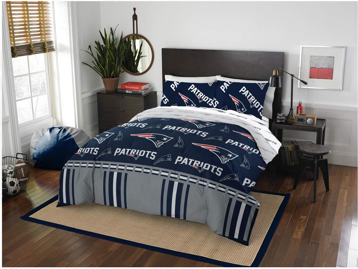 New England Patriots Queen Comforter & Sheet Set, 5 Piece Bedding, New! + Homemade Wax Melts