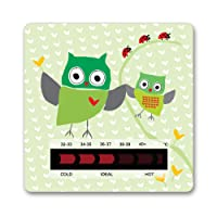 Owl Baby Bath Thermometer Card With New Moving Line Technology - Ensure baby's bath is not too hot or uncomfortably cold.