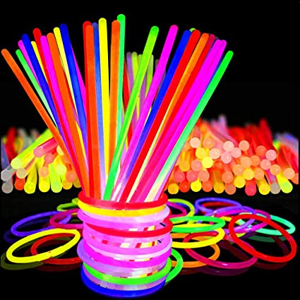 """FREE SHIPPING USA 200 8/"""" GLOW STICKS BRACELETS NECKLACES PARTY NEON FAVORS"""