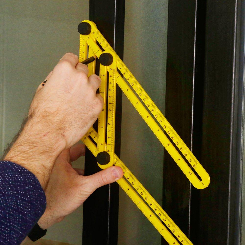 r/ègle pliable mesurant tous les angles pour Ing/énieurs Artisans iRainy Angleizer R/ègle multi-angle constructeurs