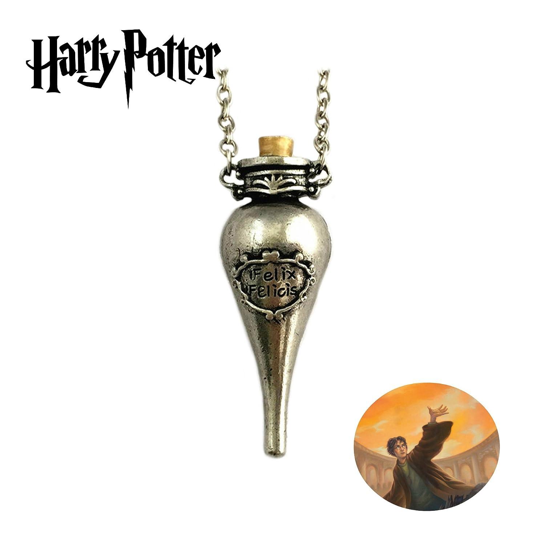 Harry Potter Felix Felicis poción botella películas Cosplay collar colgante por Athena marcas