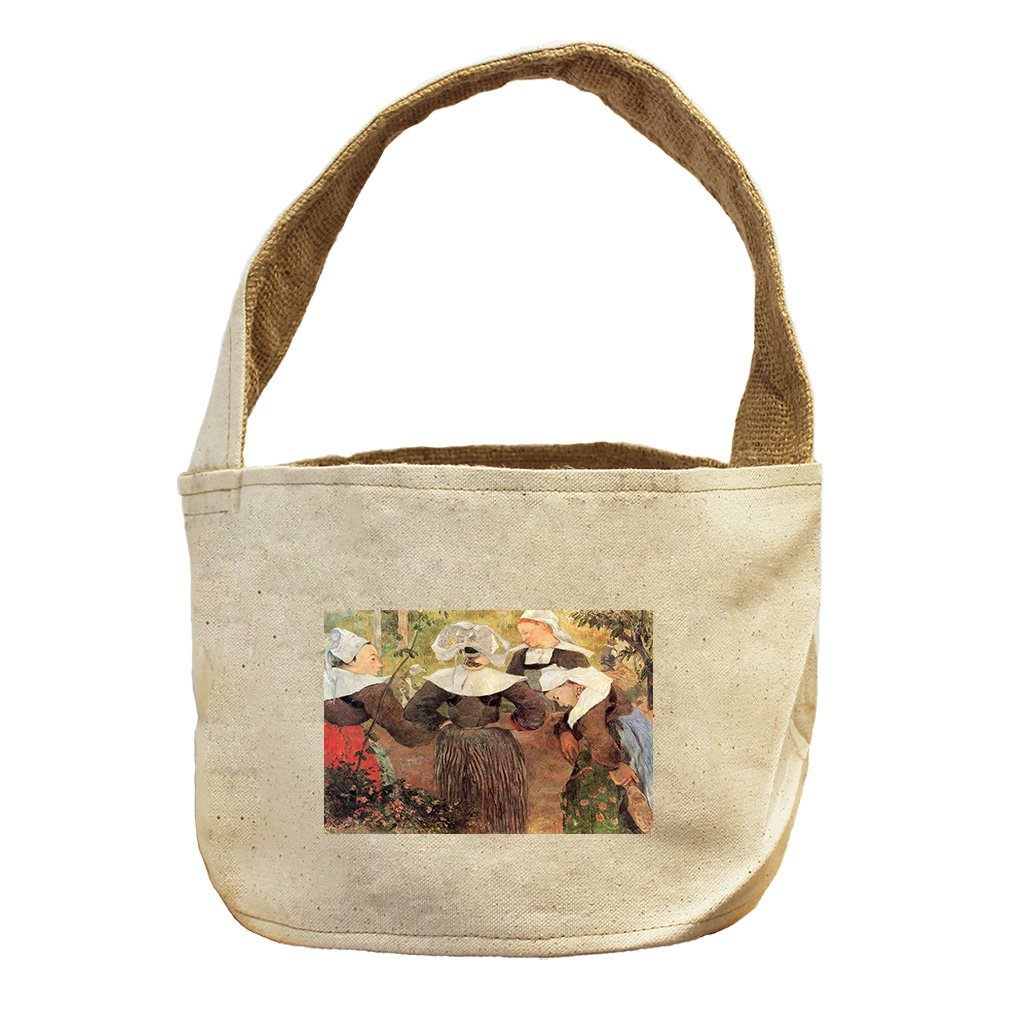 Style in Print The Dance Of 4 Women Of Breton (Gauguin) Canvas and Burlap Storage Basket