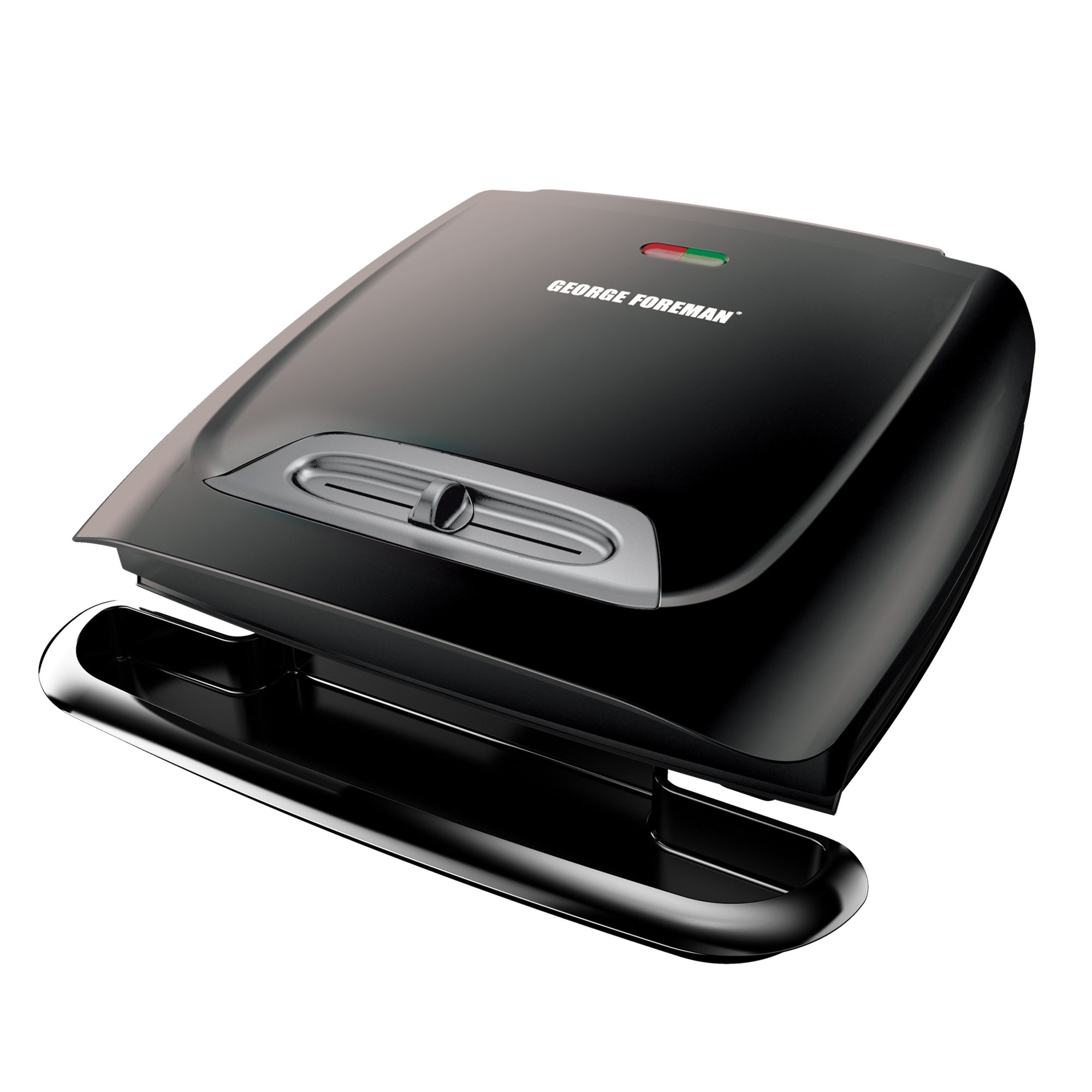 George Foreman GR2121B 8-Serving Classic Plate Grill with Variable Temperature, Black