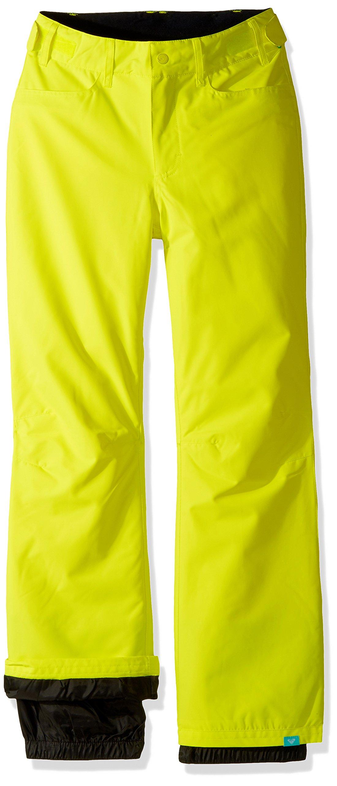 Roxy Big Girls' Backyard Snow Pant, Lemon Tonic, 16/XXL