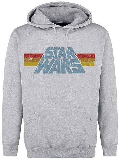 Star Wars Vintage Logo Sudadera con Capucha Gris/Melé S