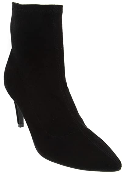 2dba6d2ef282 Dune London Head Over Heels Womens Oliana Micro Suede High Heel Shoe Ladies  Mid Calf Boot