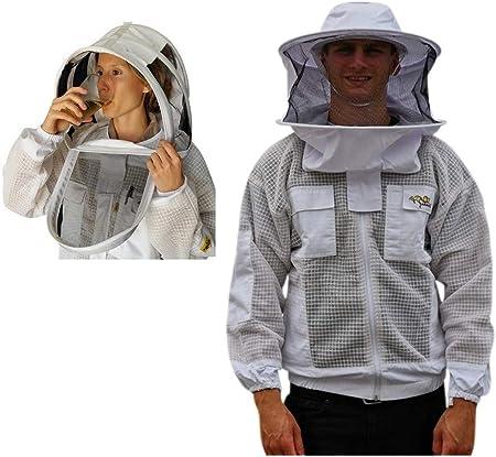 Beekeeping 3 Layer Mesh Full Ventilated Beekeeper Jacket Large
