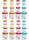 Novicz Plastic Container Set, 32-Pieces, Multicolor