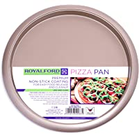 Royalford Non Stick Pizza Crisper Tray for Oven, 32 cm, Pizza Oven Baking Tray, Easy Bake Round Base Layer Oven Tray